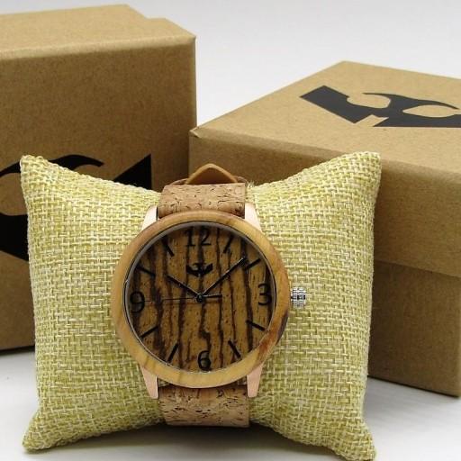 Reloj de madera y acero FUSION ROSE GOLD 05 + correa intercambiable gratis
