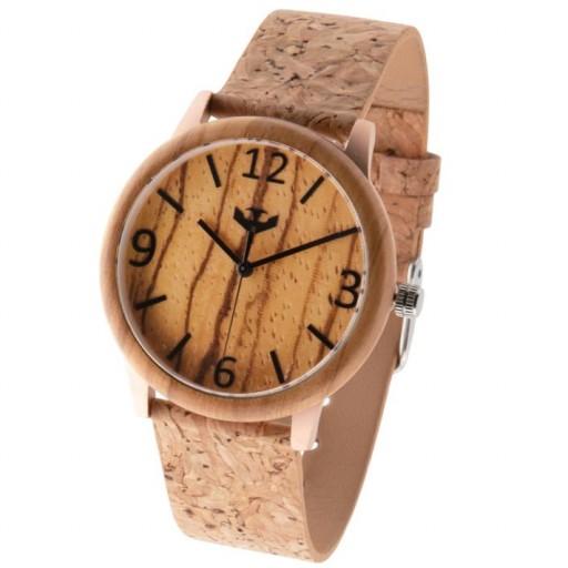 Reloj de madera y acero FUSION ROSE GOLD 05 + correa intercambiable gratis [3]