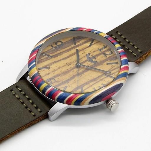 Reloj de madera y acero FUSION SKATE 01 + correa intercambiable gratis [2]