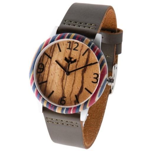 Reloj de madera y acero FUSION SKATE 01 + correa intercambiable gratis [3]