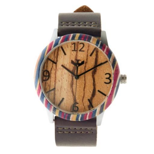 Reloj de madera y acero FUSION SKATE 01 + correa intercambiable gratis [1]