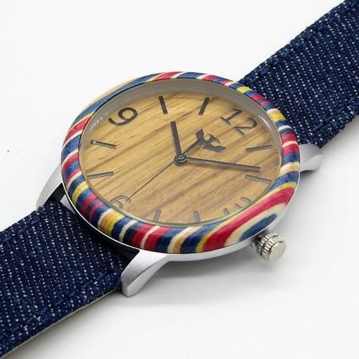 Reloj de madera y acero FUSION SKATE 07 + correa intercambiable gratis [2]