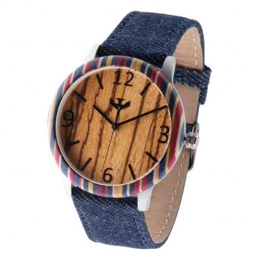Reloj de madera y acero FUSION SKATE 07 + correa intercambiable gratis [3]