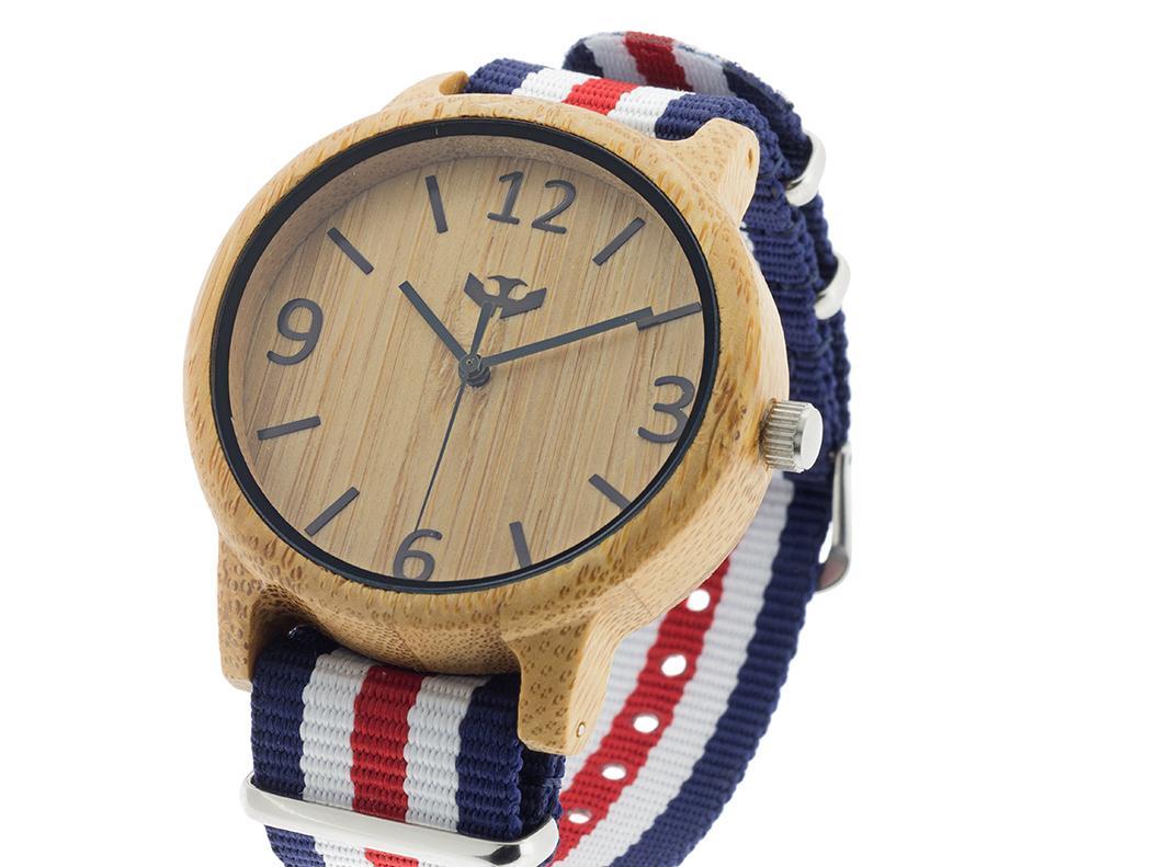 Reloj de madera Mosca Negra SLOWOOD 01