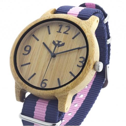 Reloj de madera Mosca Negra SLOWOOD 02