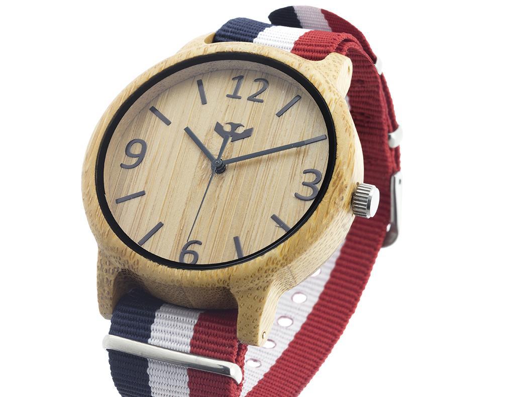 Reloj de madera Mosca Negra SLOWOOD 03