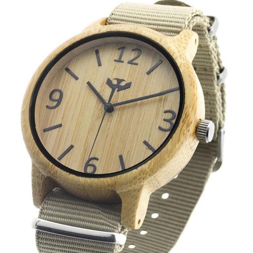 Reloj de madera Mosca Negra SLOWOOD 07