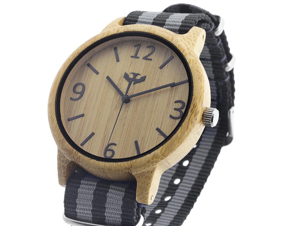 Reloj de madera Mosca Negra SLOWOOD 09
