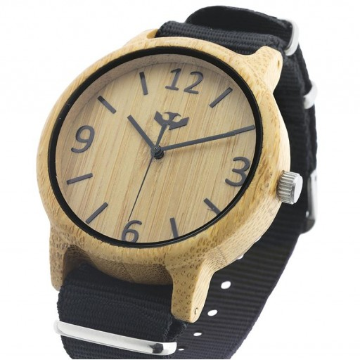 Reloj de madera Mosca Negra SLOWOOD 11