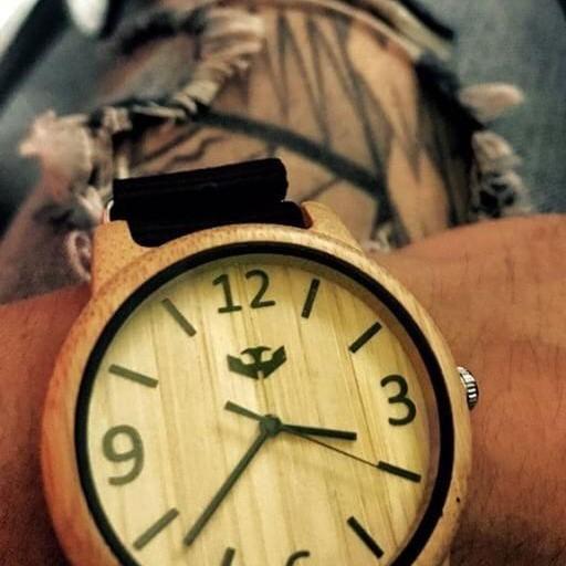 Reloj de madera Mosca Negra SLOWOOD 11 [3]