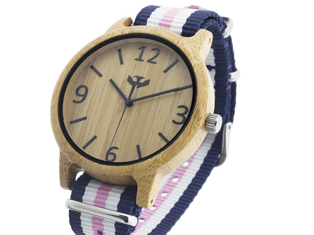 Reloj de madera Mosca Negra SLOWOOD 13