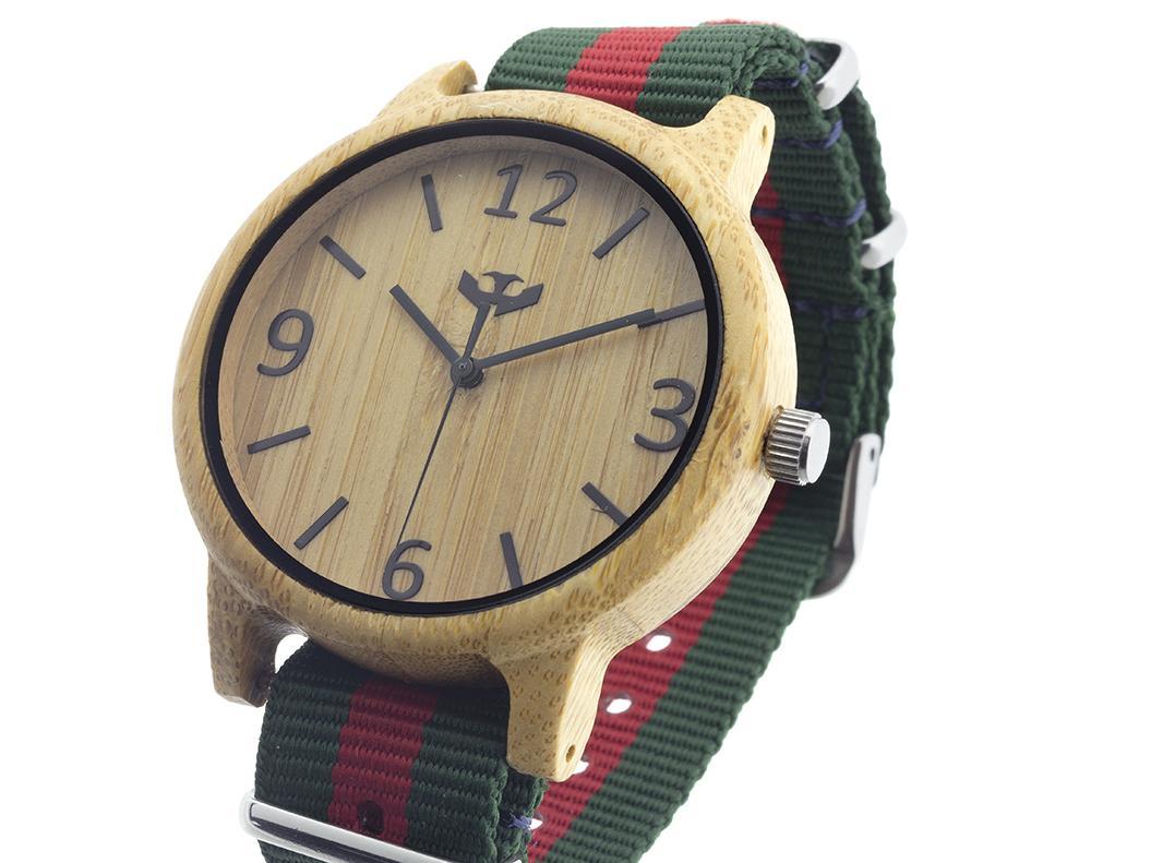 Reloj de madera Mosca Negra SLOWOOD 15