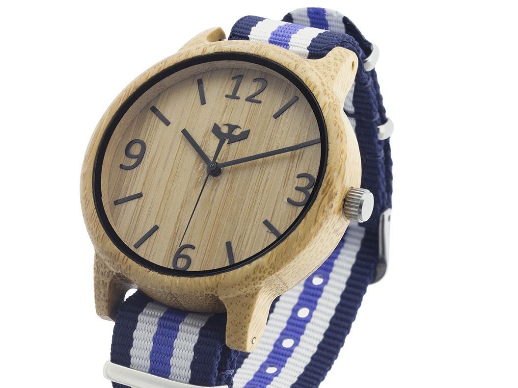 Reloj de madera Mosca Negra SLOWOOD 19
