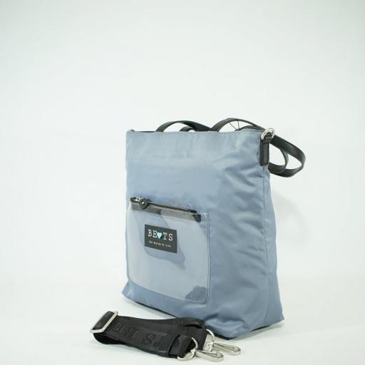 Bolso shopper de brazo y bandolera bets nylon summer azul jeans (3).JPG [2]