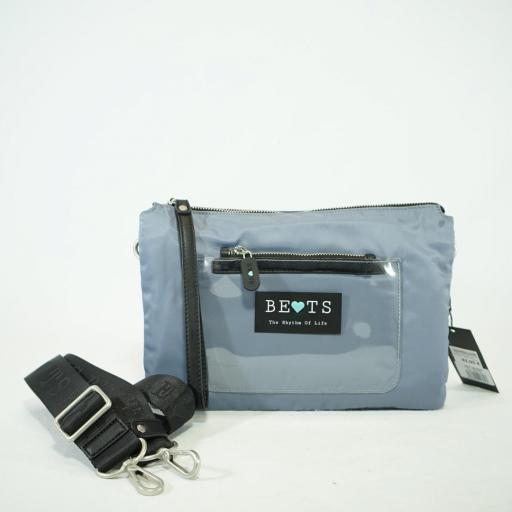 "Bolso cartera y bandolera ""S"" bets nylon summer azul jeans (1).JPG"