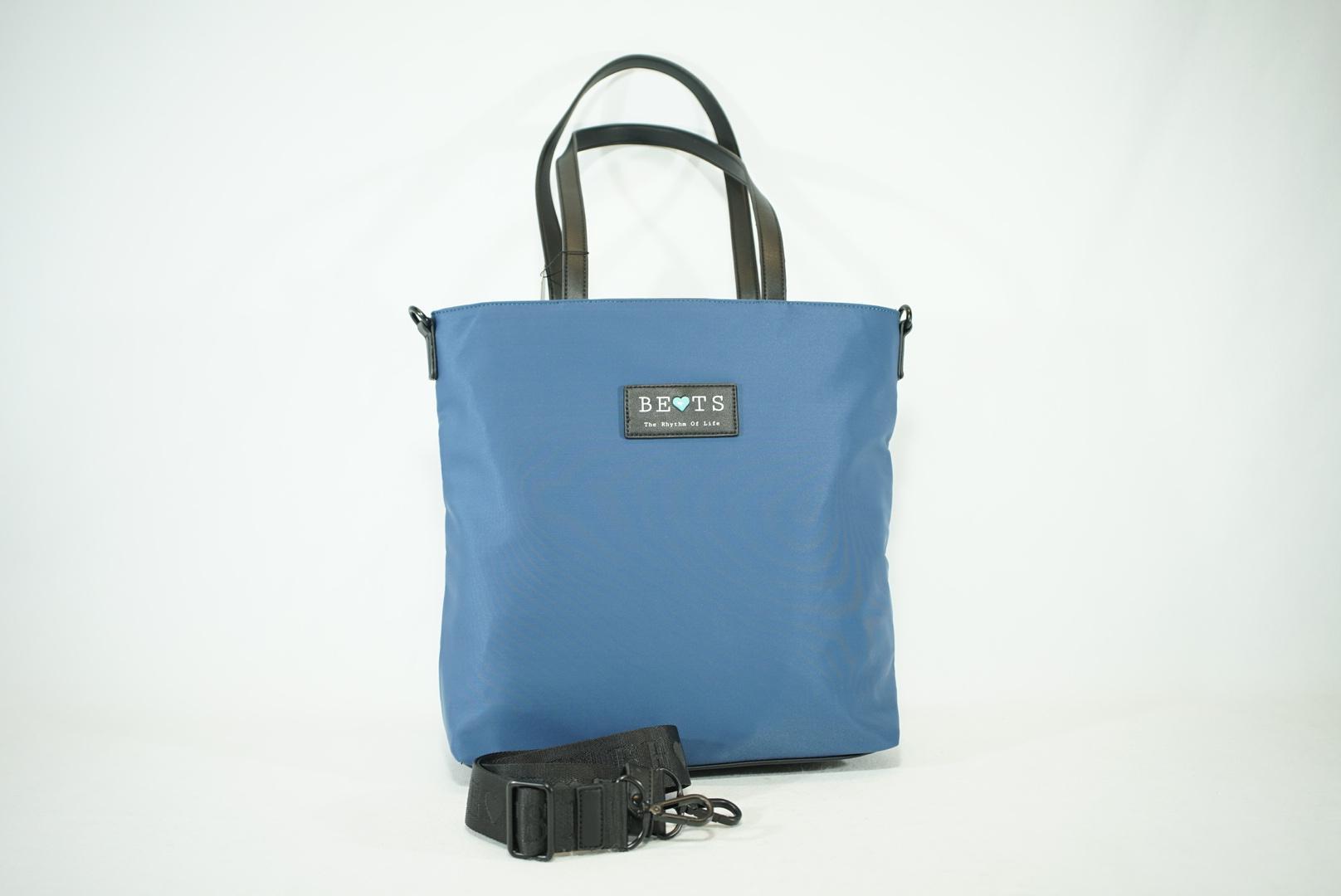Bolso shopper de brazo y bandolera bets neopreno summer azul (1).JPG