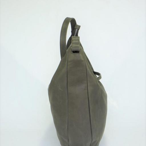 Bolso de brazo en piel forma gondola BIBA marron ARK1L 04 [1]