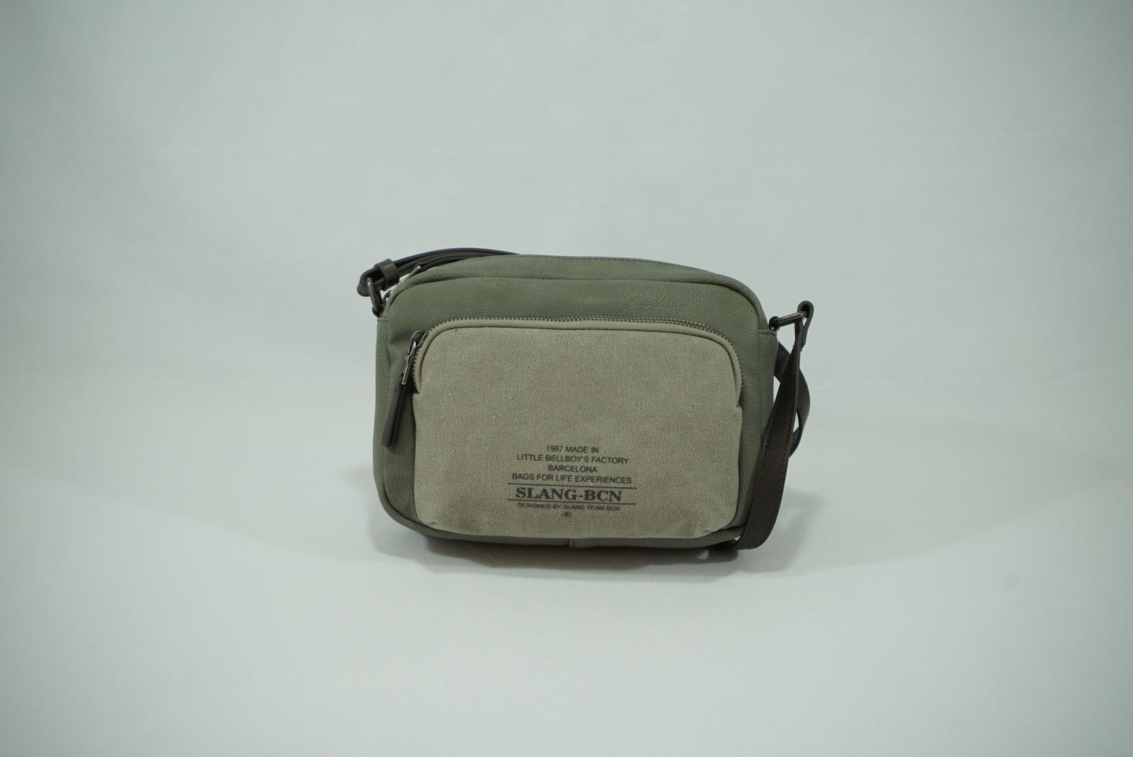 Bolso bandolera mini Slang bcn bold verde 3.JPG