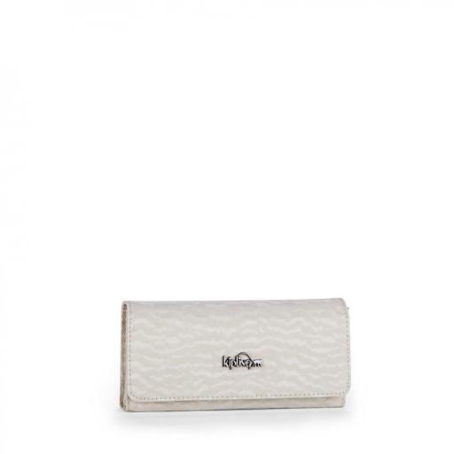 Cartera kipling brownie white garden 14242 G13