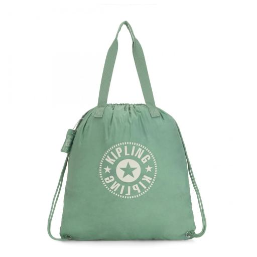 Bolso Mochila Kipling plegable cierre cordon DRAWPACK Fro Mint Light I4965 49R