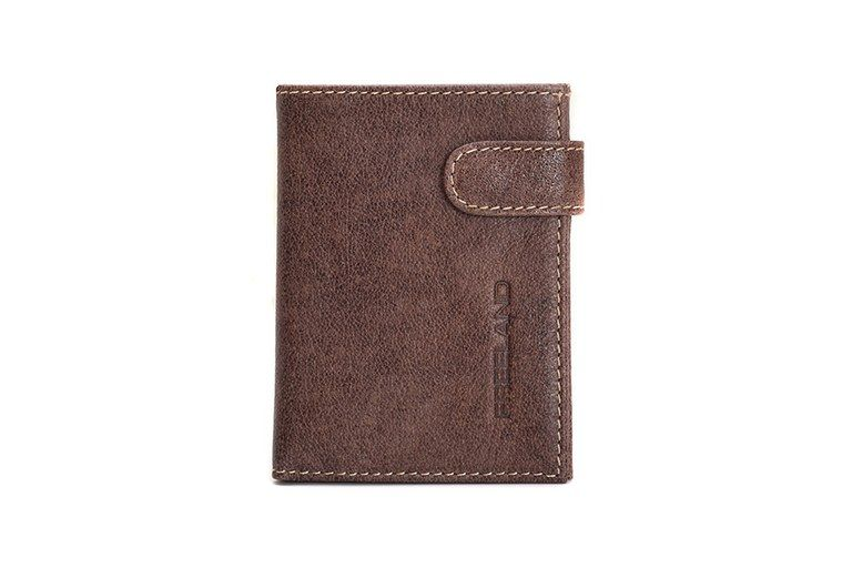 Billetera hombre monedero exterior marrón PF227 05