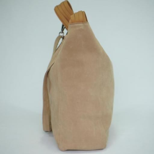 Bolso de brazo y bandolera en piel BIBA wilburn taupe WIL1L 24 [2]