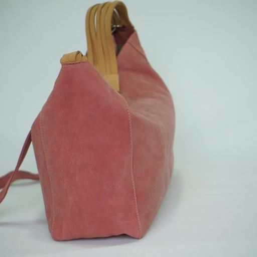 Bolso de brazo y bandolera en piel BIBA wilburn rosa WIL2L 29 [2]