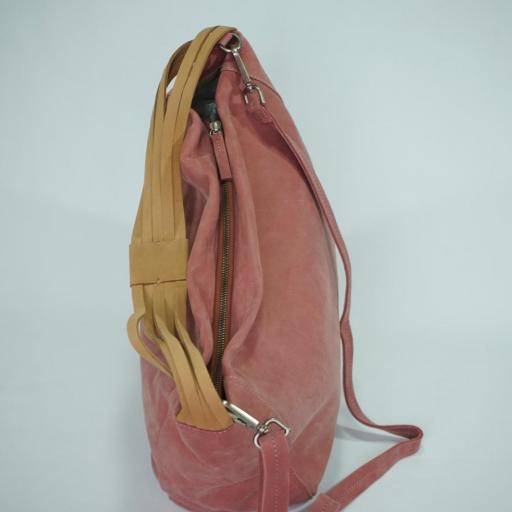 Bolso de brazo y bandolera en piel BIBA wilburn rosa WIL2L 29 [3]