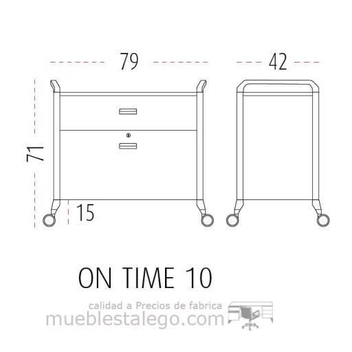 Mueble auxiliar polivalente con ruedas ber-on time 10 [1]