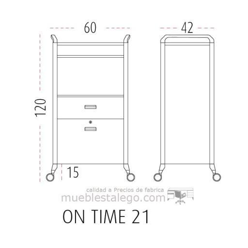 Mueble auxiliar polivalente con ruedas ber-on time 21 [1]