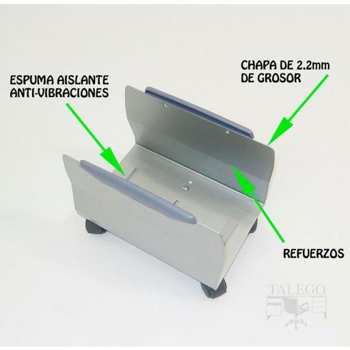 Soporte para cpu con ruedas regulable ber-cpu ruedas [2]
