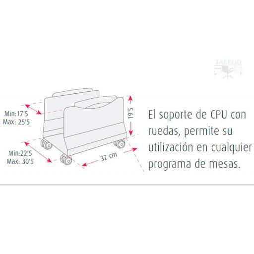 Soporte para cpu con ruedas regulable ber-cpu ruedas [3]