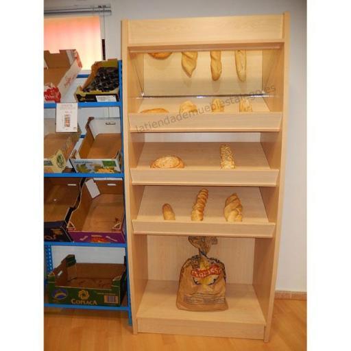 Expositor de pan con espejo EM-mpan