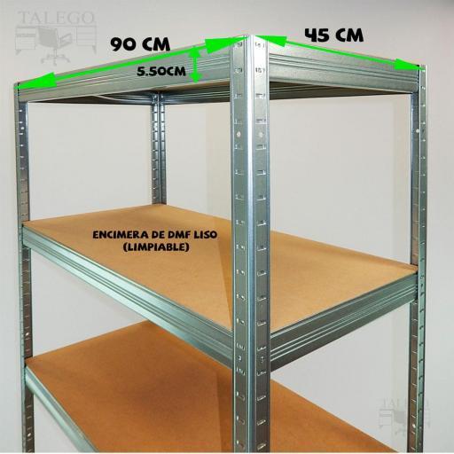 Estantería metálica sin tornillos ko-futtal90-45g [1]