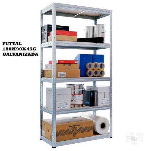 Estantería metálica sin tornillos ko-futtal90-45g