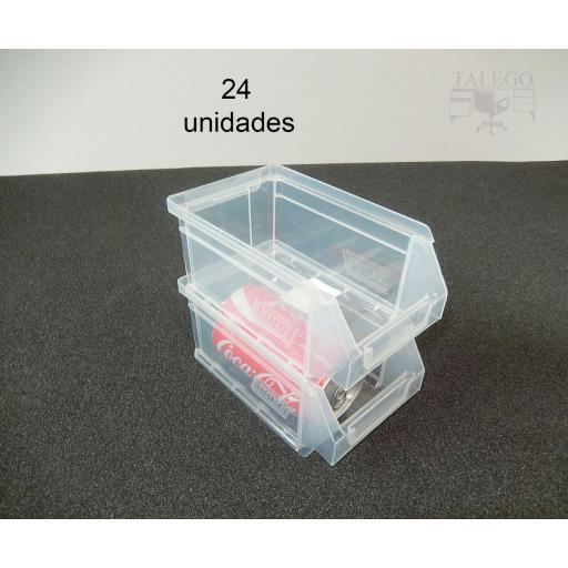 Gaveta apilable 51. Lote de 24 unidades (80hx170x100mm) Transparente Ty-gaveta51Transp 24/u [1]