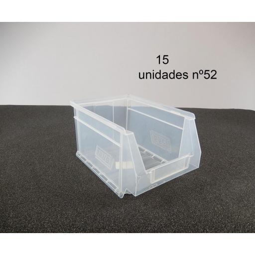 Gaveta apilable 52. Lote de 15 unidades Transparente (13hx23.6x16cm) Ty-gaveta52Transp 15/u