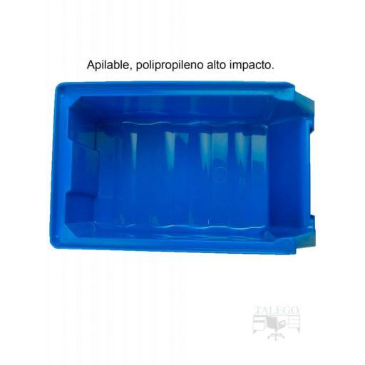 Gaveta apilable 51. Lote de 24 unidades (80hx170x100mm) Azul Ty-gaveta51 24/u [2]