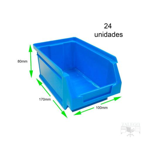 Gaveta apilable 51. Lote de 24 unidades (80hx170x100mm) Azul Ty-gaveta51 24/u