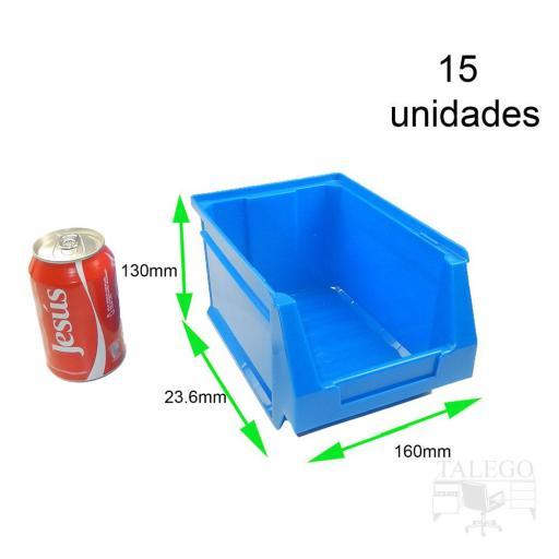 Gaveta apilable 52. Lote de 15 unidades (13hx23.6x16cm) Azul Ty-gaveta52 15/u [1]