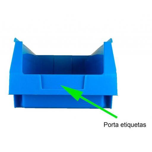 Gaveta apilable 53. Lote de 10 unidades (13hx16x33.6cm) Azul Ty-gaveta53 10/u [1]