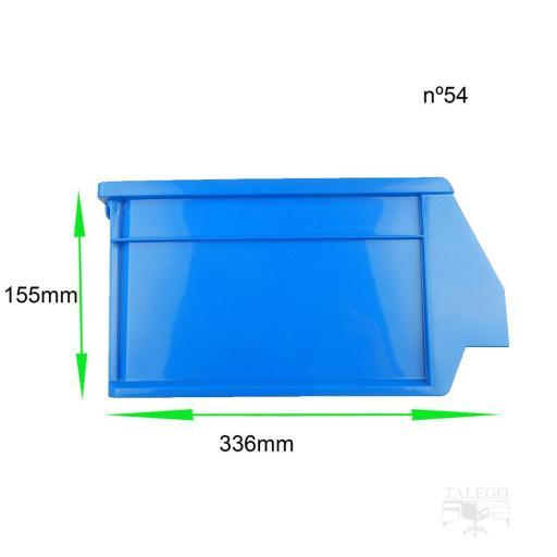 Gaveta apilable 54. Lote de 12 unidades (15.5hx33.6x21.6cm) Azul Ty-gaveta54 12/u [3]