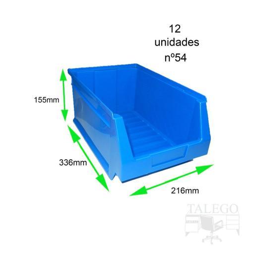 Gaveta apilable 54. Lote de 12 unidades (15.5hx33.6x21.6cm) Azul Ty-gaveta54 12/u