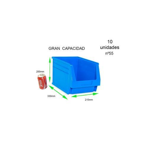 Gaveta apilable 58. Lote de 12 unidades (20hx50x30cm) Azul Ty-gaveta58 12/u [2]