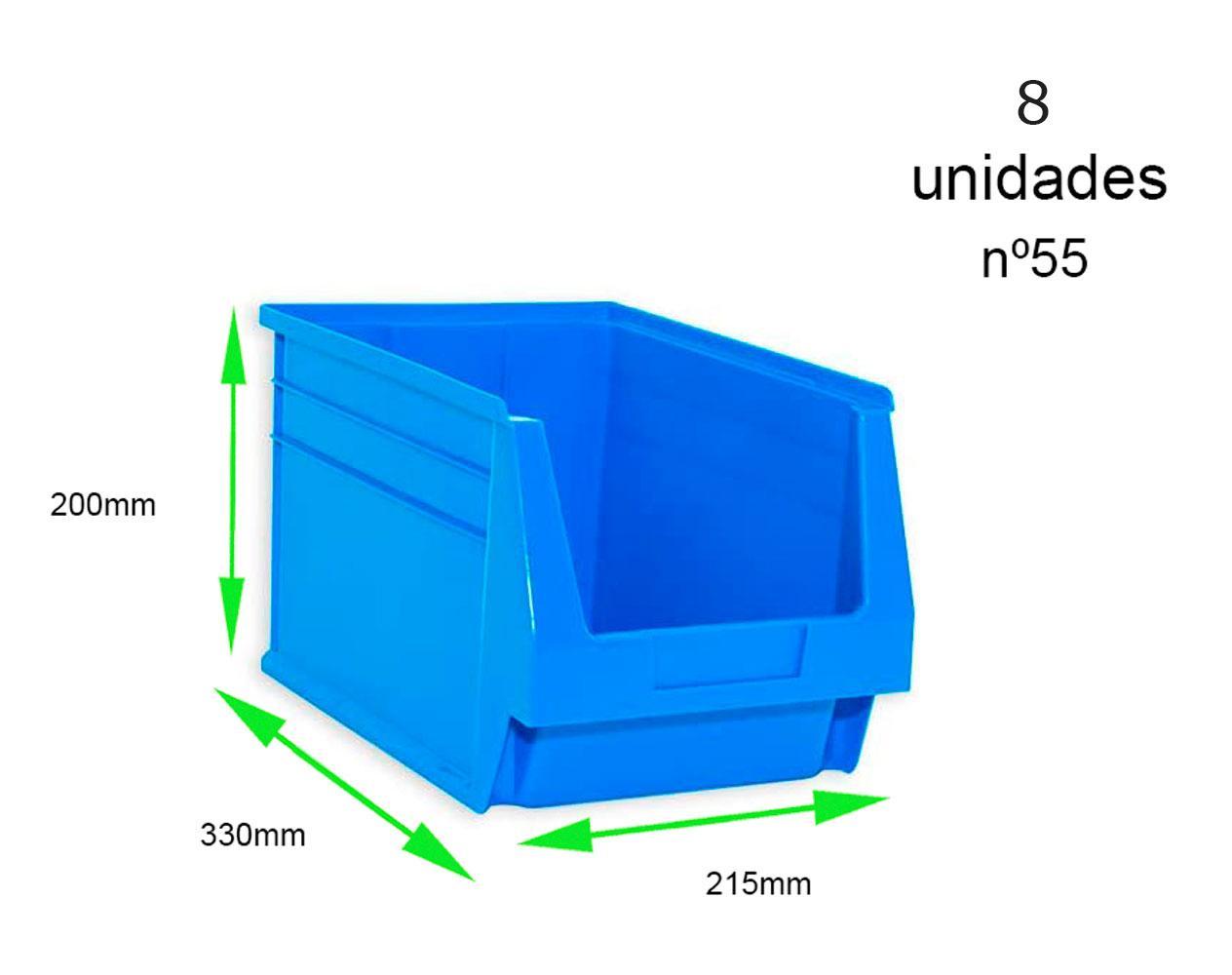 Gaveta apilable 55. Lote de 8 unidades (20hx33.6x21.6cm) Azul Ty-gaveta55 8/u
