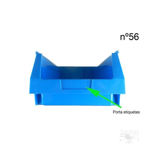 Gaveta apilable 56. Lote de 8 unidades (17.5hx42x16x27cm) Azul Ty-gaveta56 8/u [1]