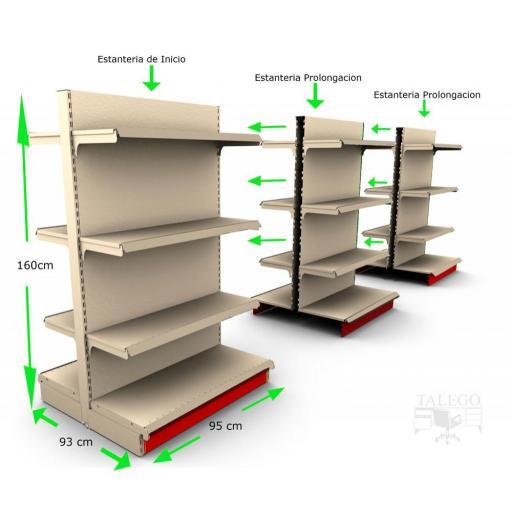 Estantería de supermercado gondola de estantes ka-0C [3]