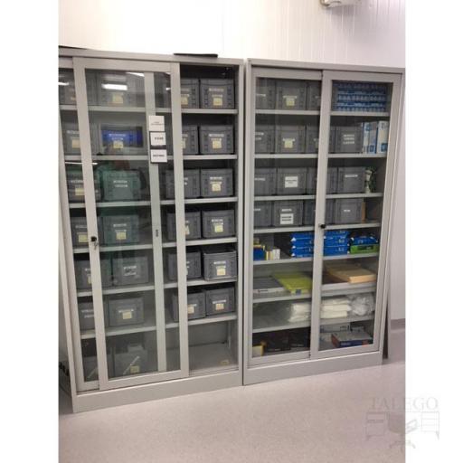 Armario metalico puertas de cristal 195x100x42 id-0210.0106 [2]