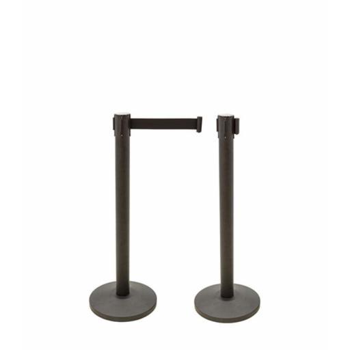 Poste separador con cinta extensible co-poste negro [2]