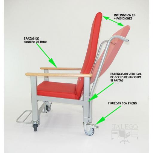 Silla de ruedas para personas de poca movilidad me-613